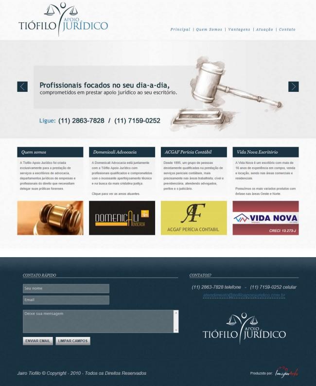 Site Tiófilo Apoio Jurídico