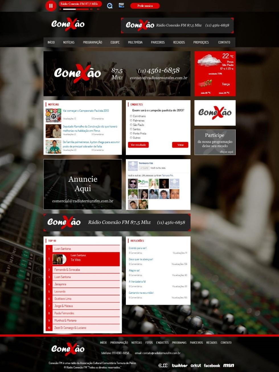 Site Rádio Conexão FM