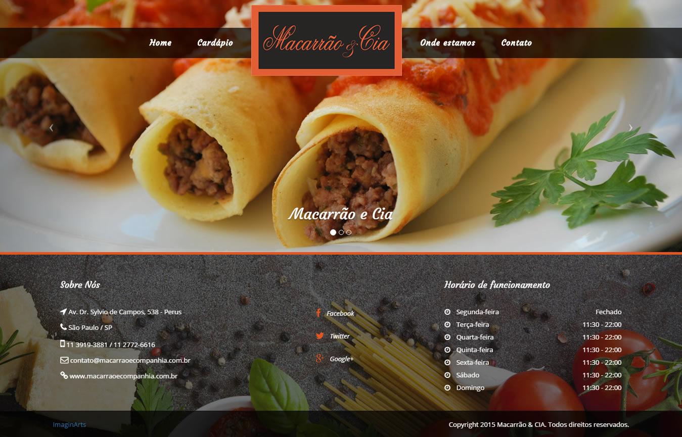 Site Restaurante Macarrão & Cia